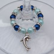 Dolphin Wine Glass Charm - Full Sparkle Style